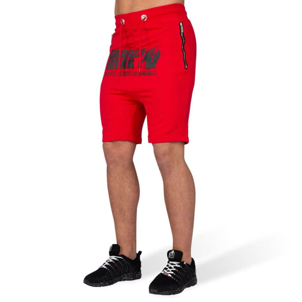 Alabama Drop Crotch Shorts Red