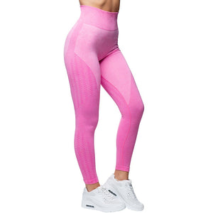 Wabisabi Seamless Leggings Electric Pink