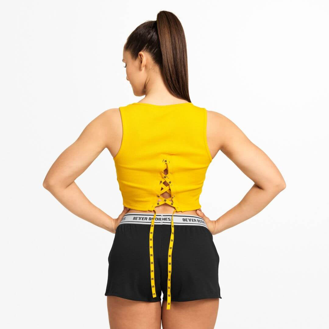 Astoria Laced Tank Yellow