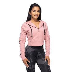Vesey Cropped Hood Heather Pink