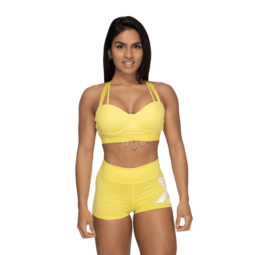 Better Bodies Waverly Sports Bra Lemon Yellow