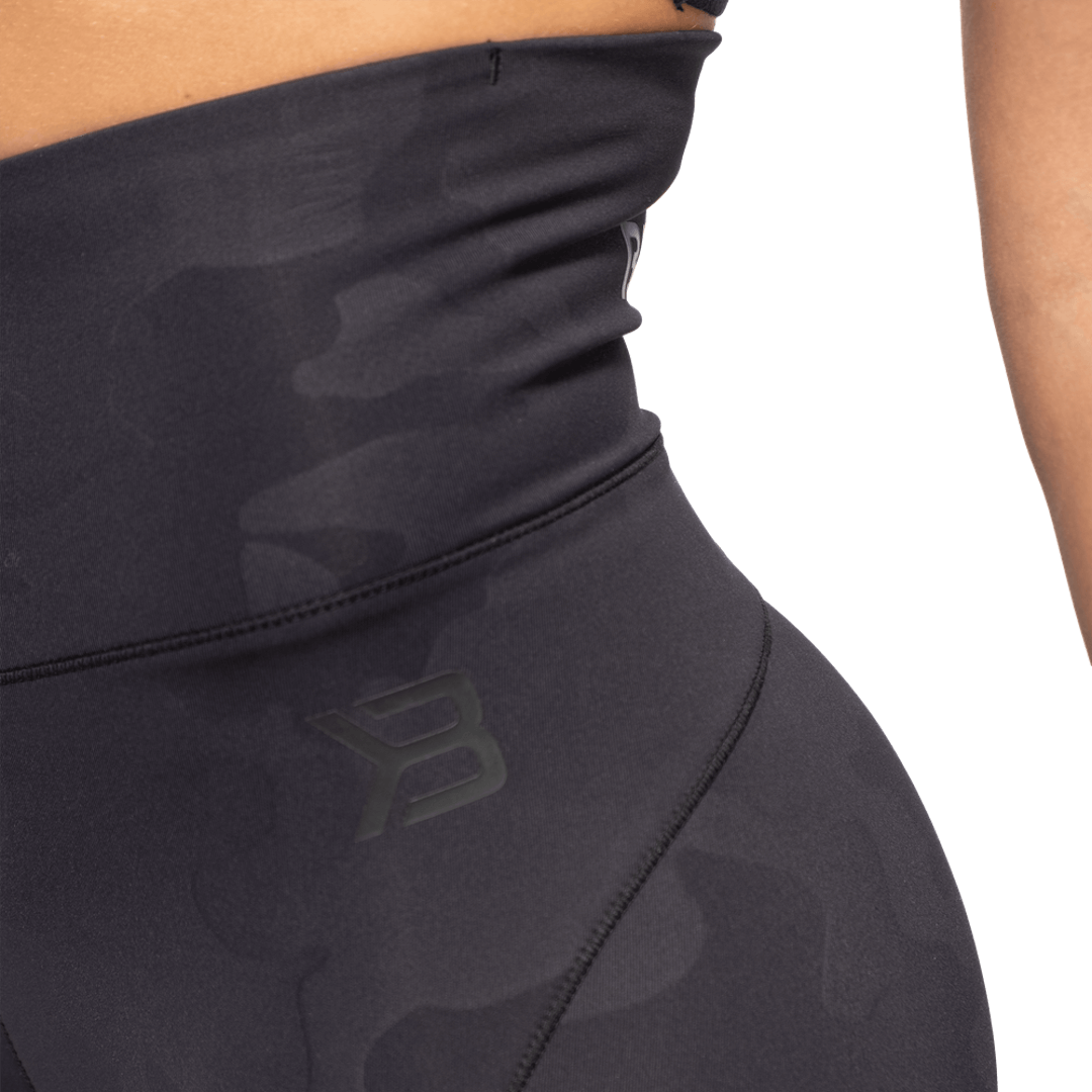 High Waist Leggings Black Camo
