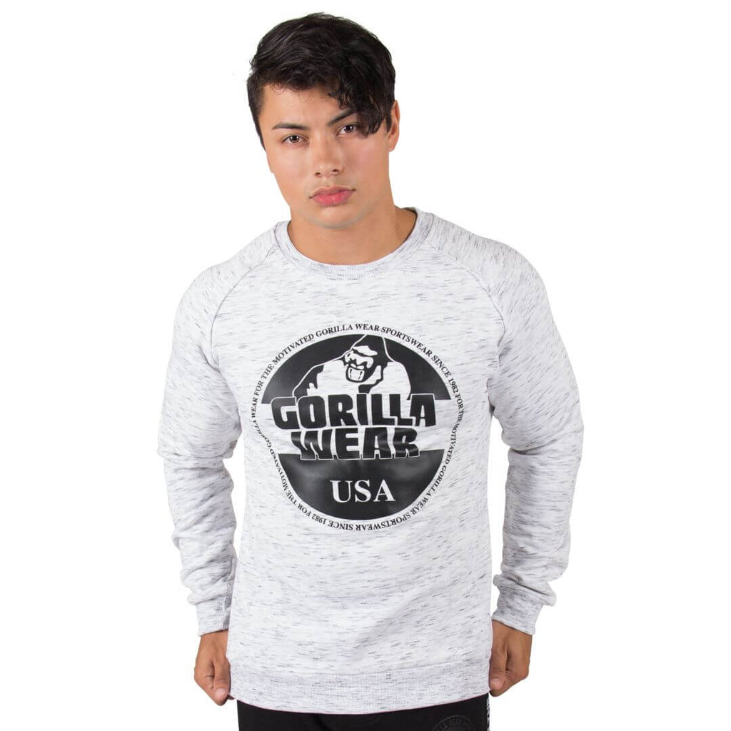 Bloomington Crewneck Sweatshirt Mixed Grey