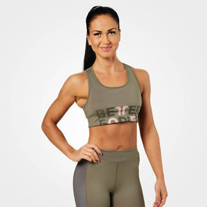 Bowery Sports Bra Washed Green