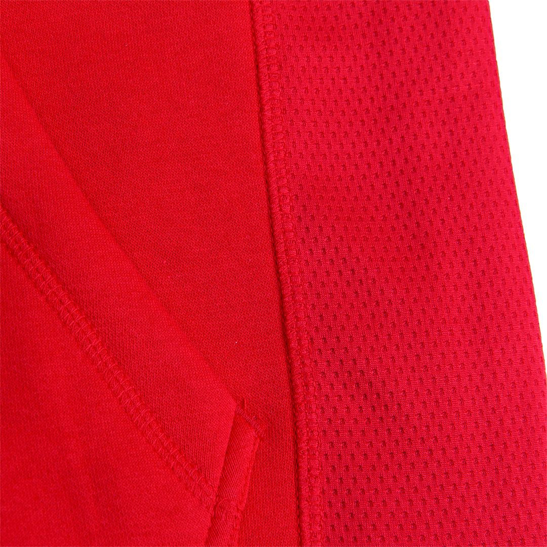 Bowie Mesh Zipped Hoodie Red
