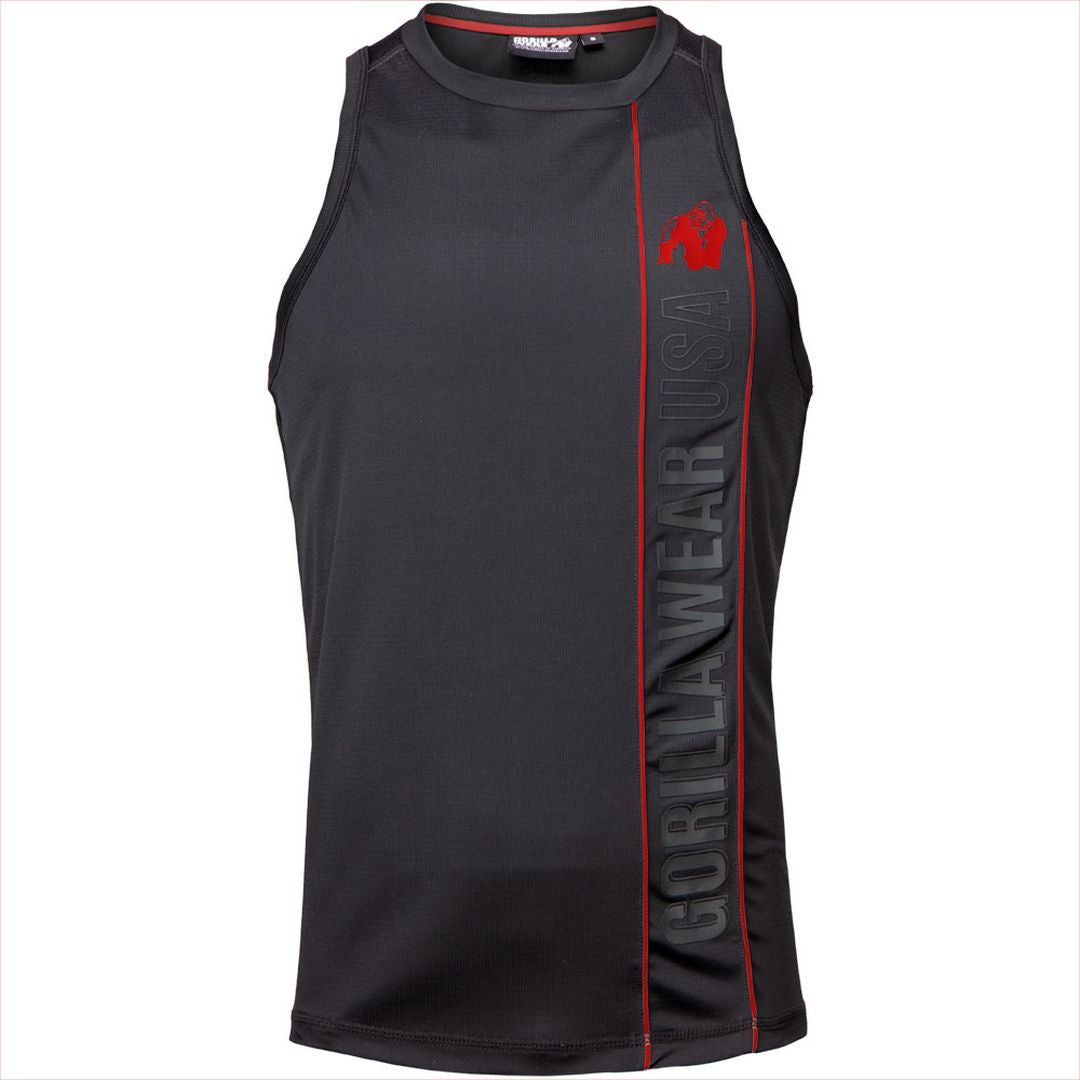 Branson Tank Top Black Red