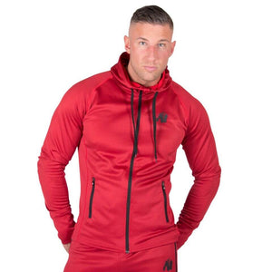 Bridgeport Zipped Hoodie Red