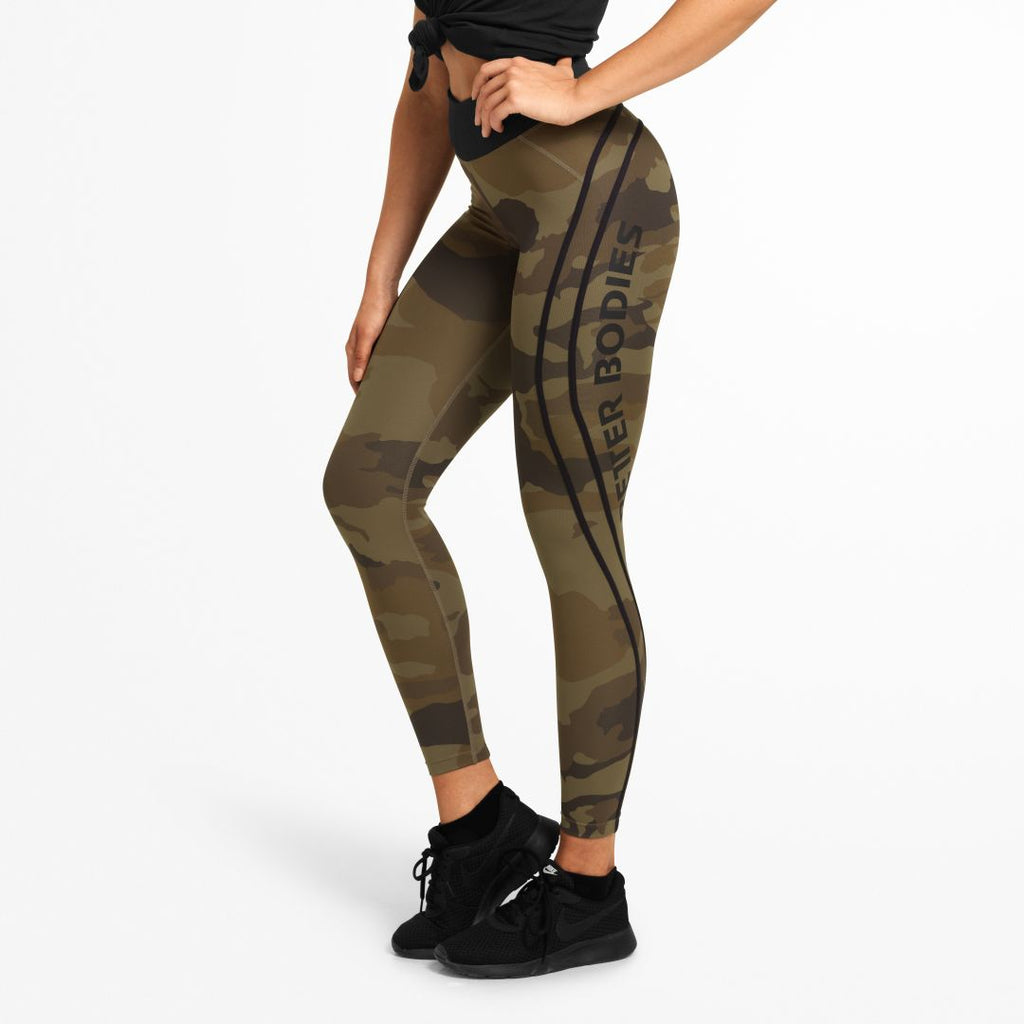 Camo High Tights Dark Green Camo