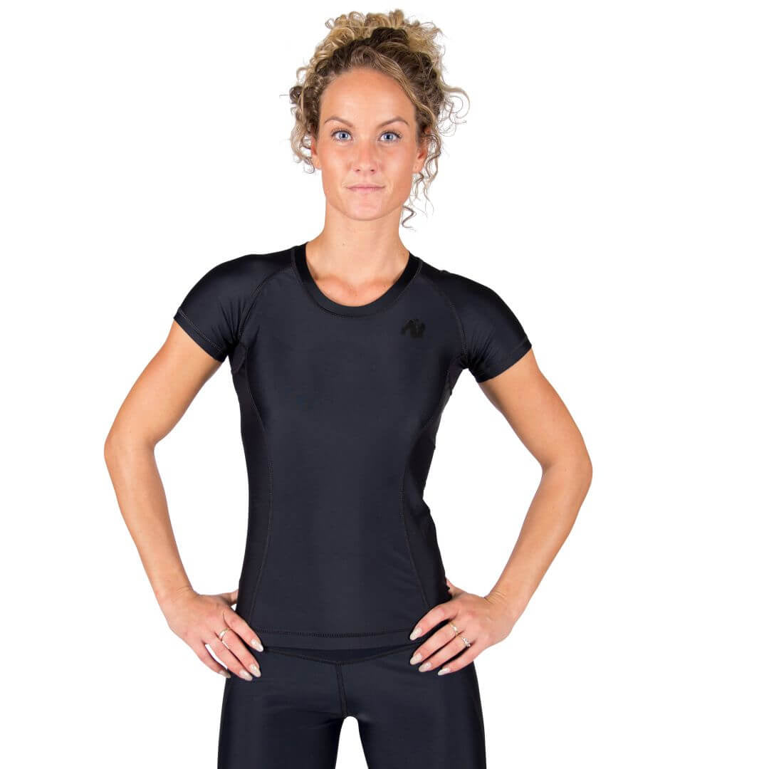 Carlin Compression Short Sleeve Top Black Black