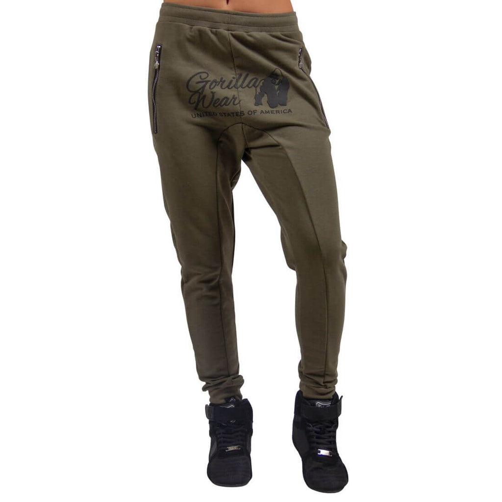 Celina Drop Crotch Joggers Army Green