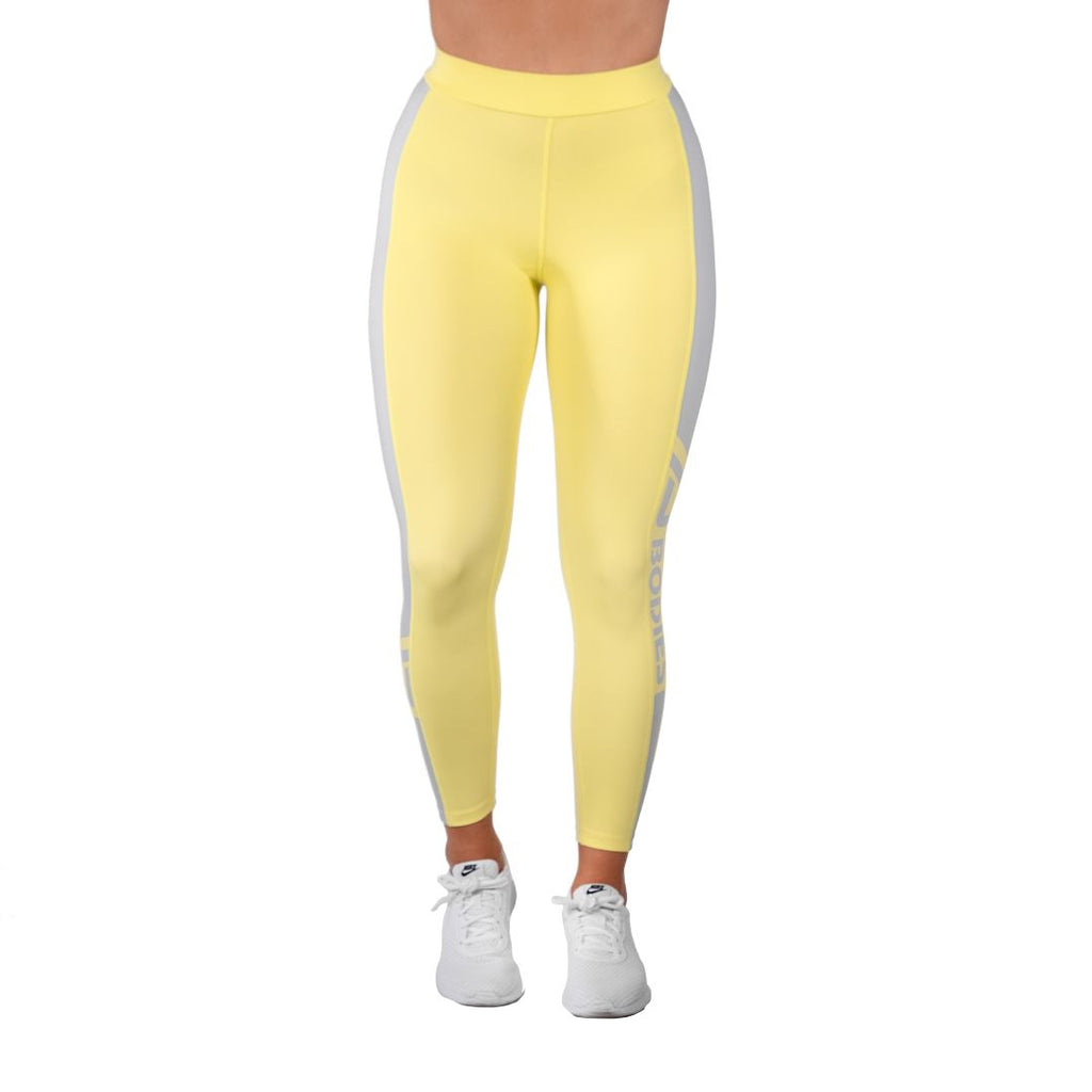 Chrystie High Tights Lemon Yellow
