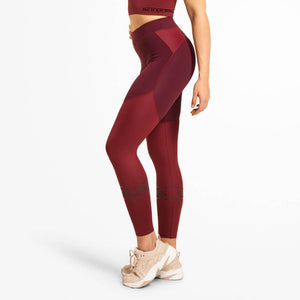 Chrystie Shiny Tights Deep Maroon