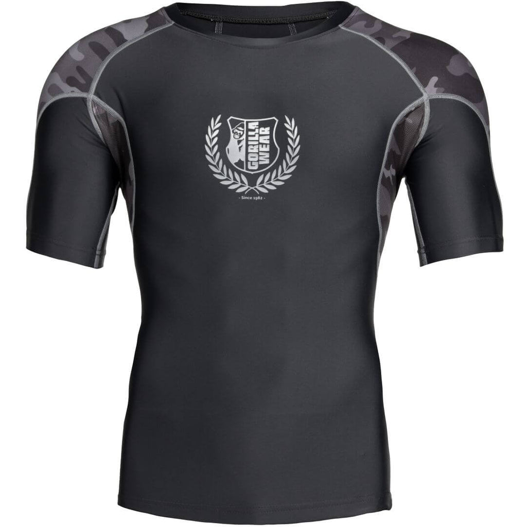 Cypress Rashguard Shortsleeve Black Grey Camo