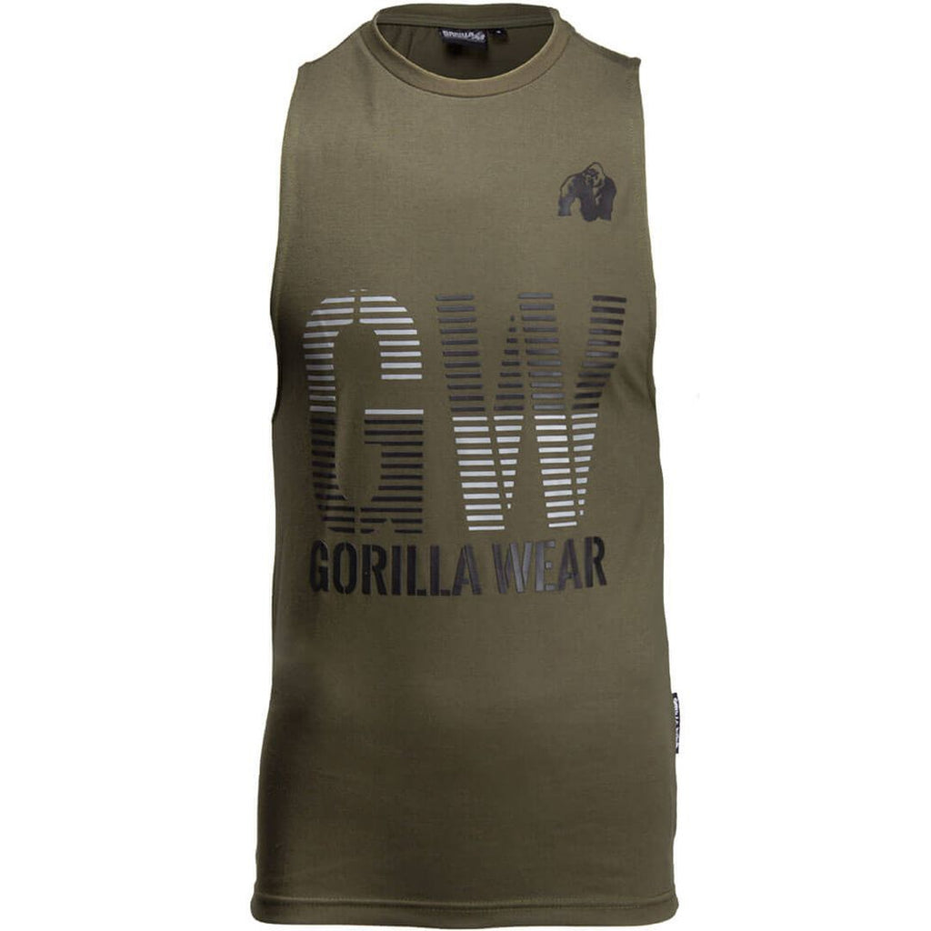 Dakota Sleeveless T Shirt Army Green