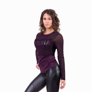 Nebbia Flash Mesh Longsleeve Burgundy