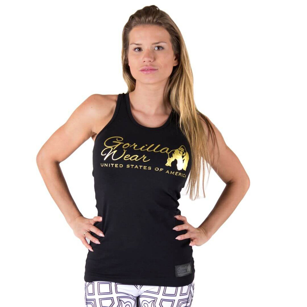 Florence Tank Top Black Gold
