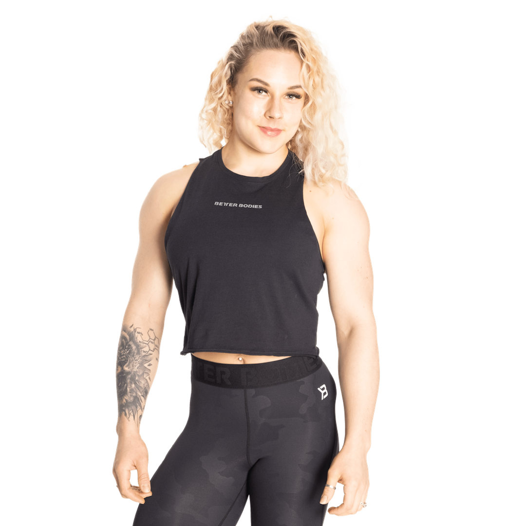 Fluid Loose Racerback Black