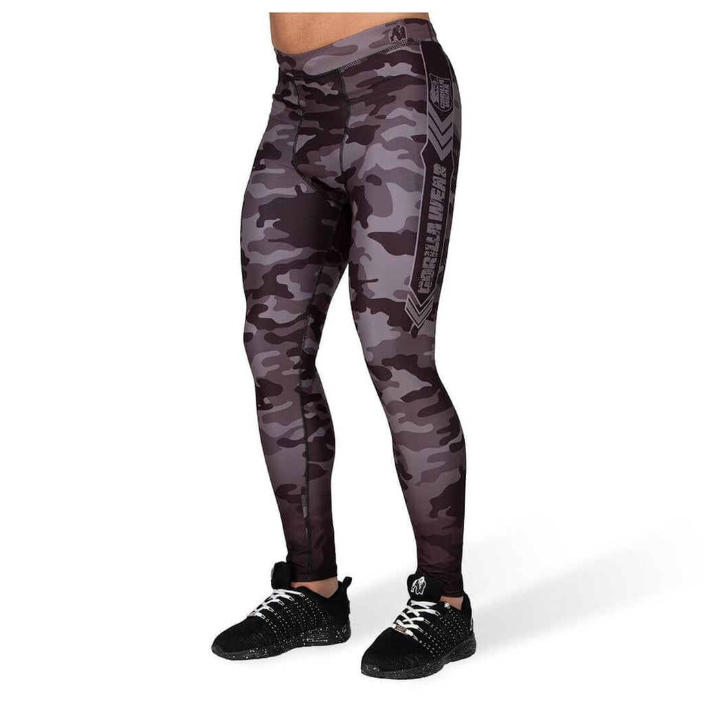 Franklin Mens Tights Black Grey Camo