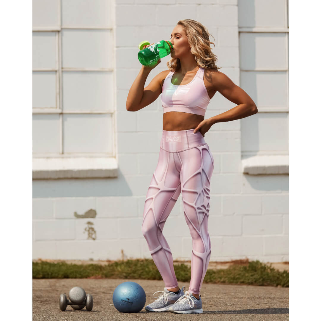 Drinking with weights Gavelo MarvelLizzy Compression Leggings Pink