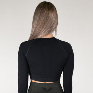 Gavelo Seamless Crop Top Black
