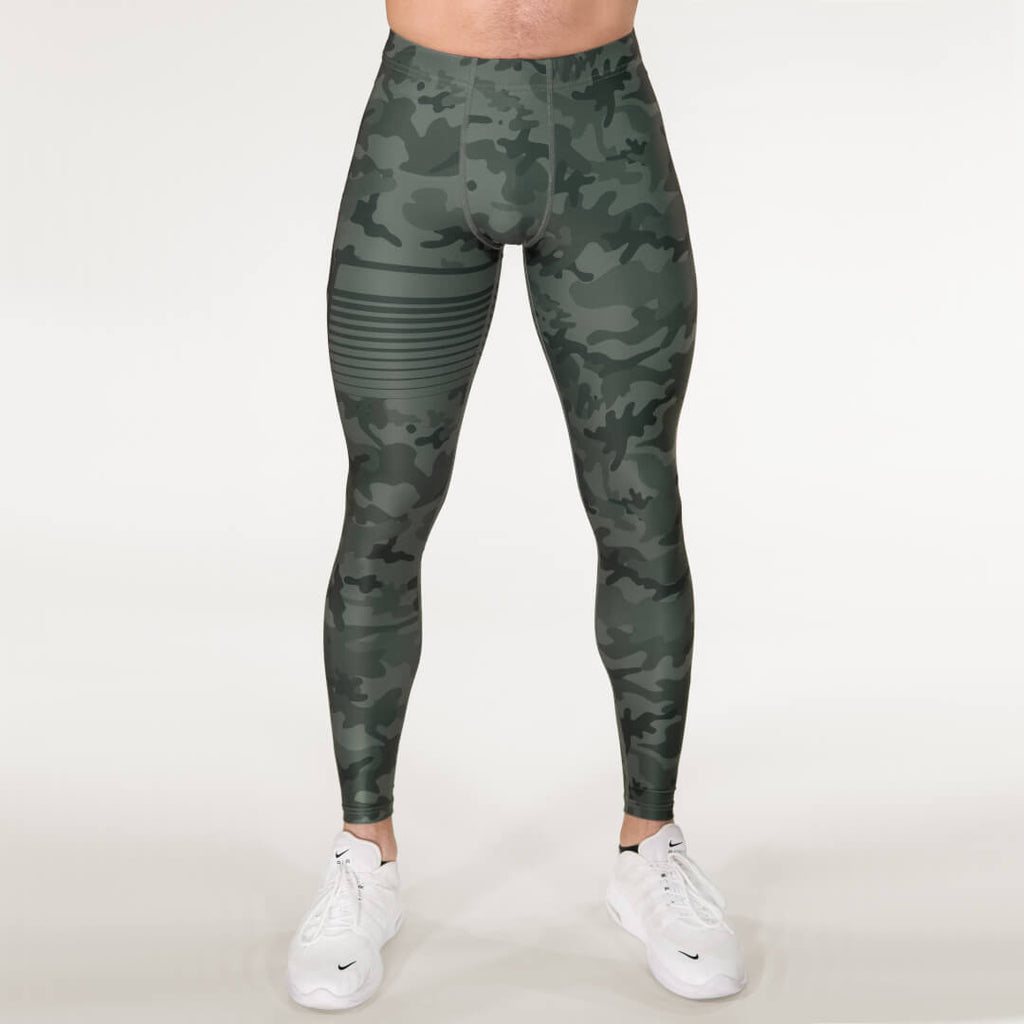 Gavelo Sniper Camo Tights Green