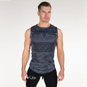 Gavelo Sniper Sleeveless Tee Blue