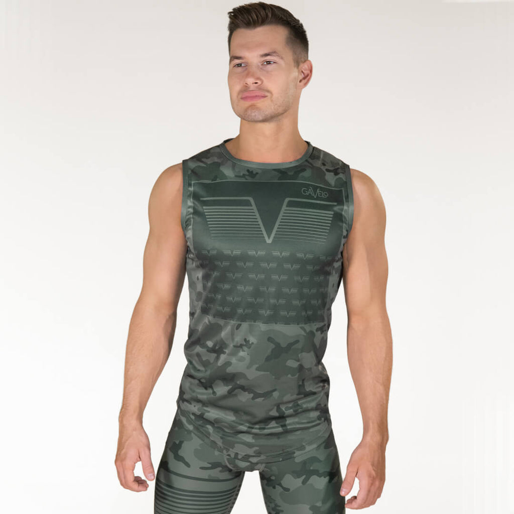 Gavelo Sniper Sleeveless Tee Green