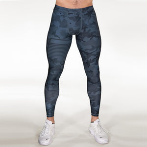 Gavelo Sniper Camo Tights Blue