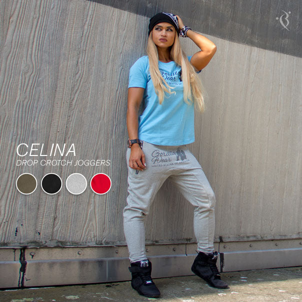 Celina Drop Crotch Joggers Grey