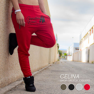 Celina Drop Crotch Joggers Red