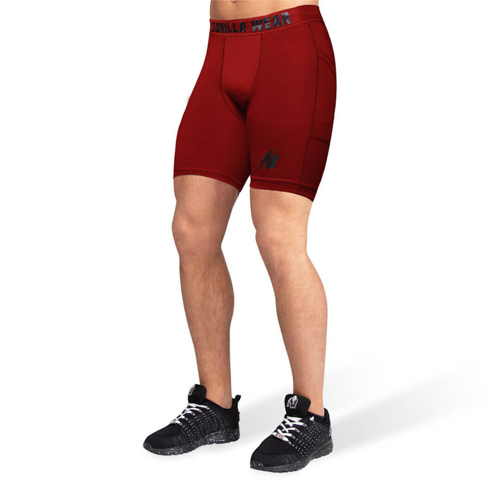 Smart Shorts burgundy red