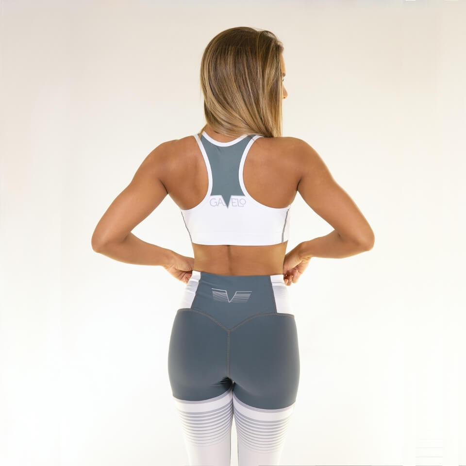 Grand Slam Sports Bra Grey White