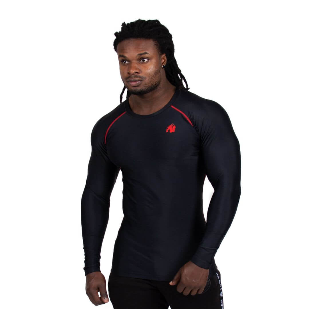 Hayden Compression Longsleeve Black Red