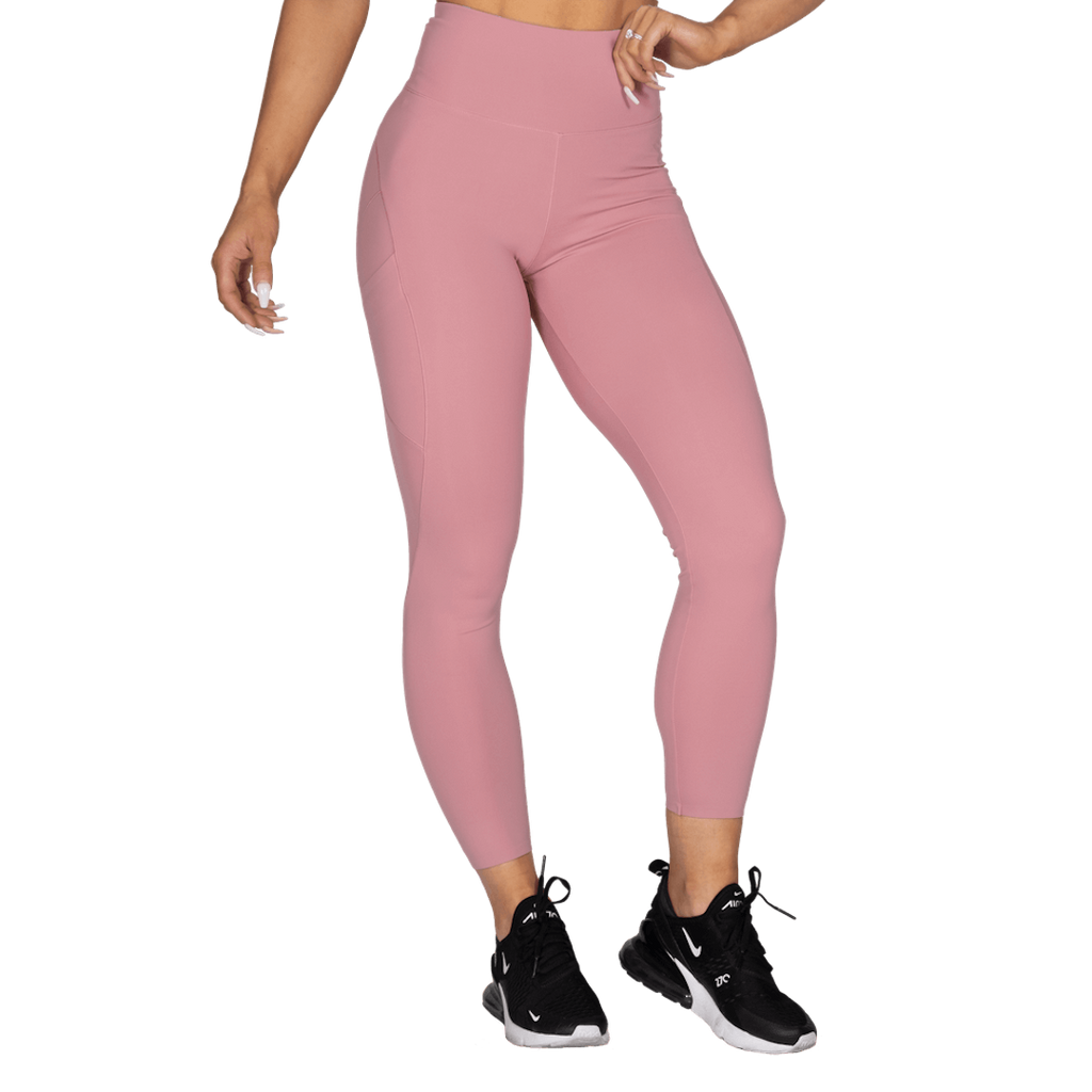 High Waist Leggings Heather Pink