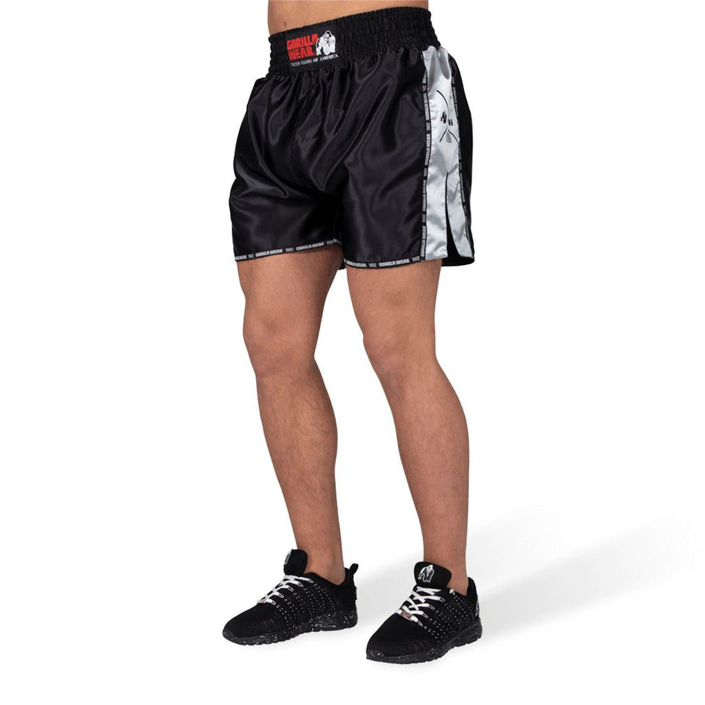 Henderson Muay Thai Kickboxing Shorts Black Grey