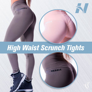 High Waist Scrunch Tights Mocha
