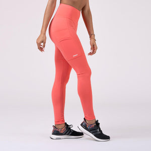High Waist Smart Tights, peach