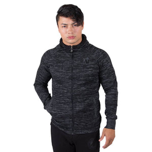 Keno Zipped Hoodie Black Grey