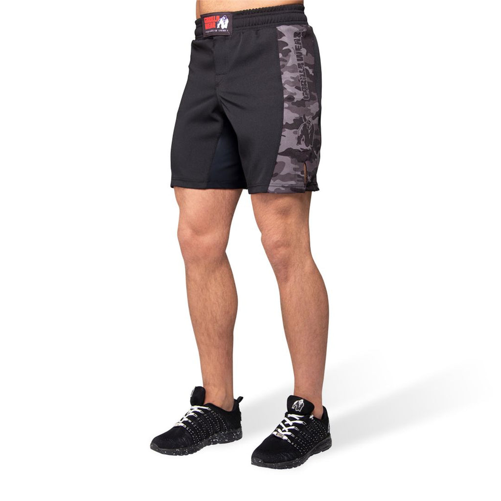 Kensington Mma Fightshorts Black Grey Camo
