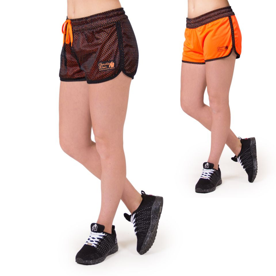Madison Reversible Shorts Black Neon Orange