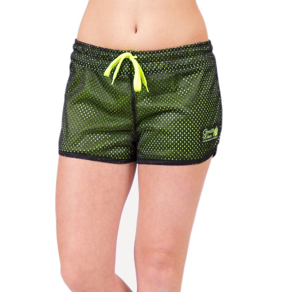 Madison Reversible Shorts Black Neon Lime