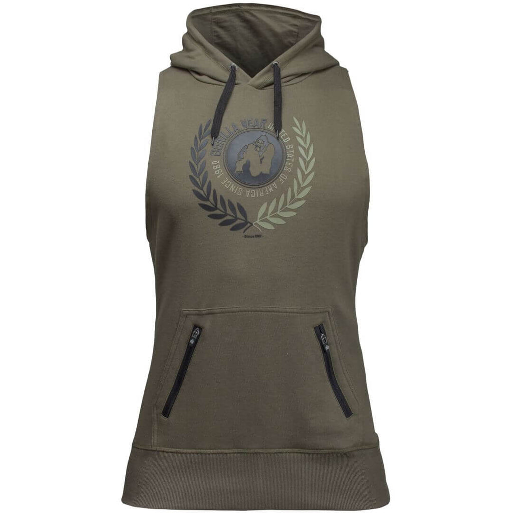 Manti Sleeveless Hoodie Army Green