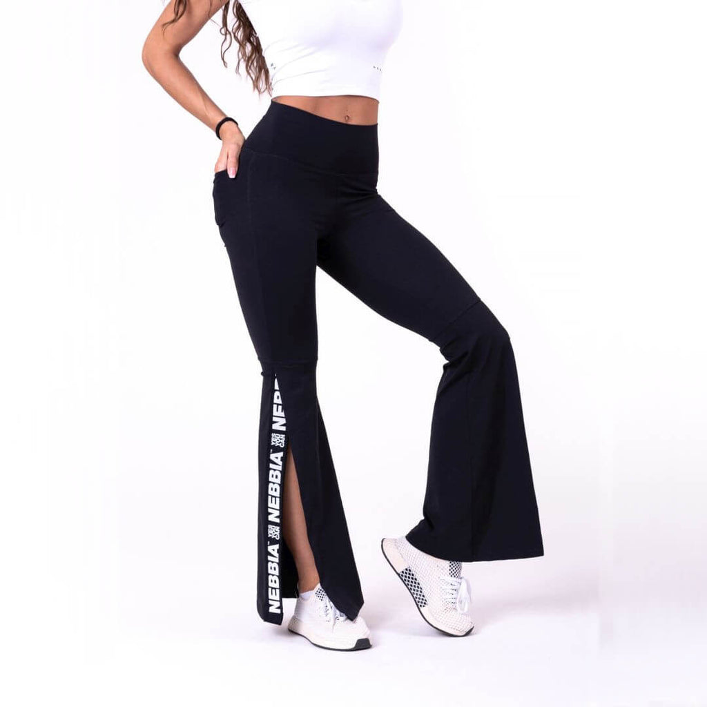 Nebbia 70S Fancy Flare Pants Black