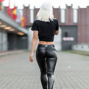 Nebbia Bubble Butt Leather Imitation Pants