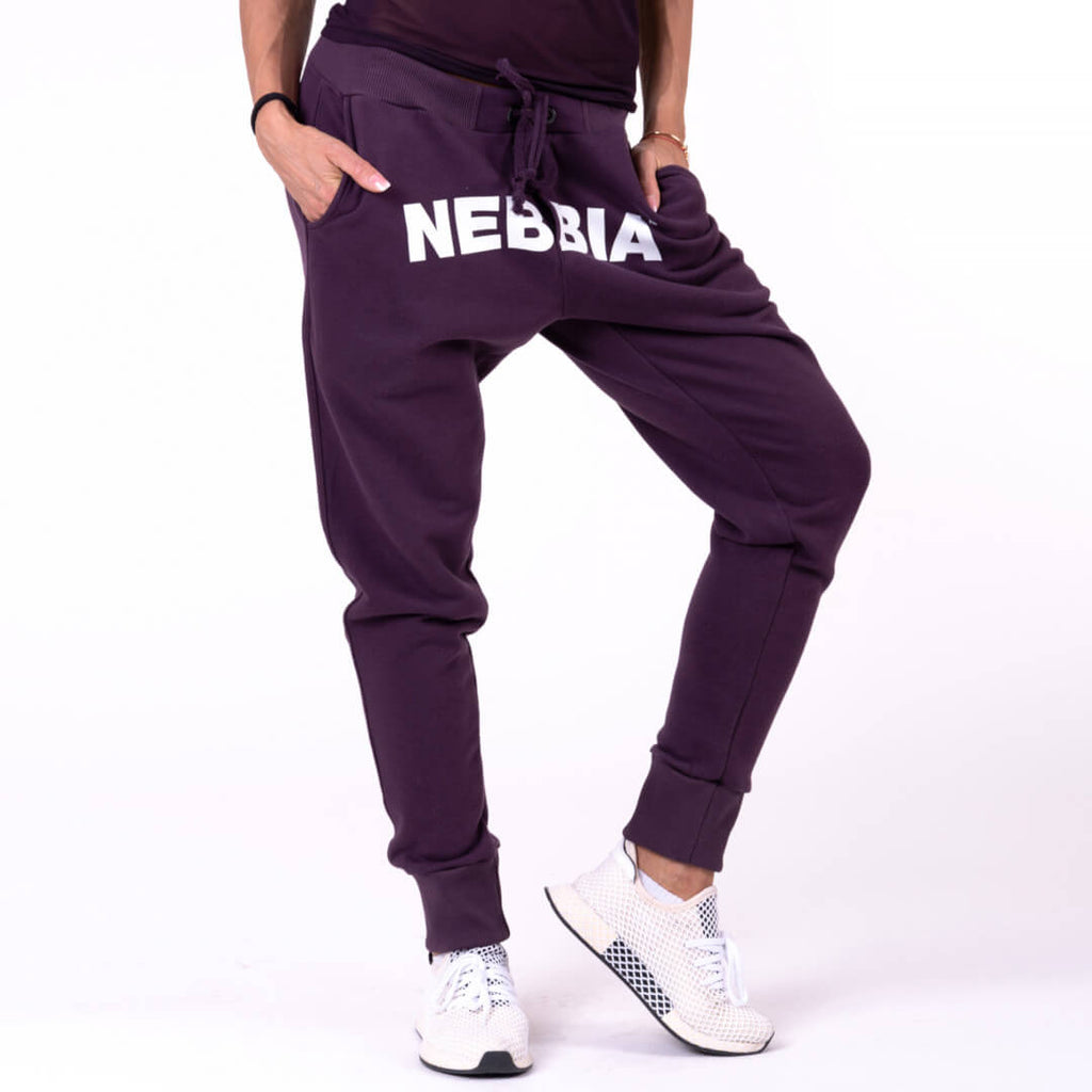 Nebbia Drop Crotch Pants Burgundy