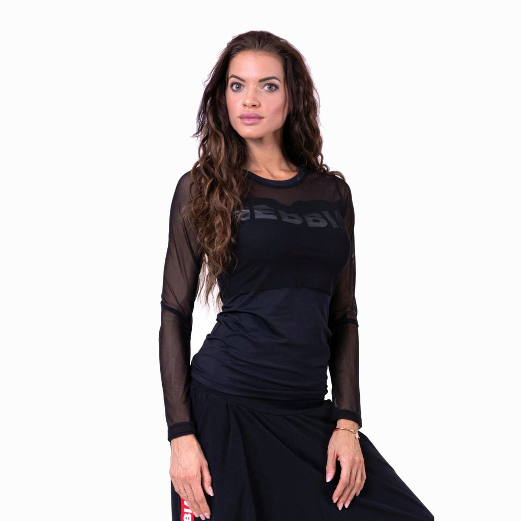 Nebbia Flash Mesh Longsleeve Black