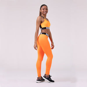 Nebbia Squad Hero Scrunch Butt Leggings Orange