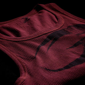 Original Ribbed Tank Maroon