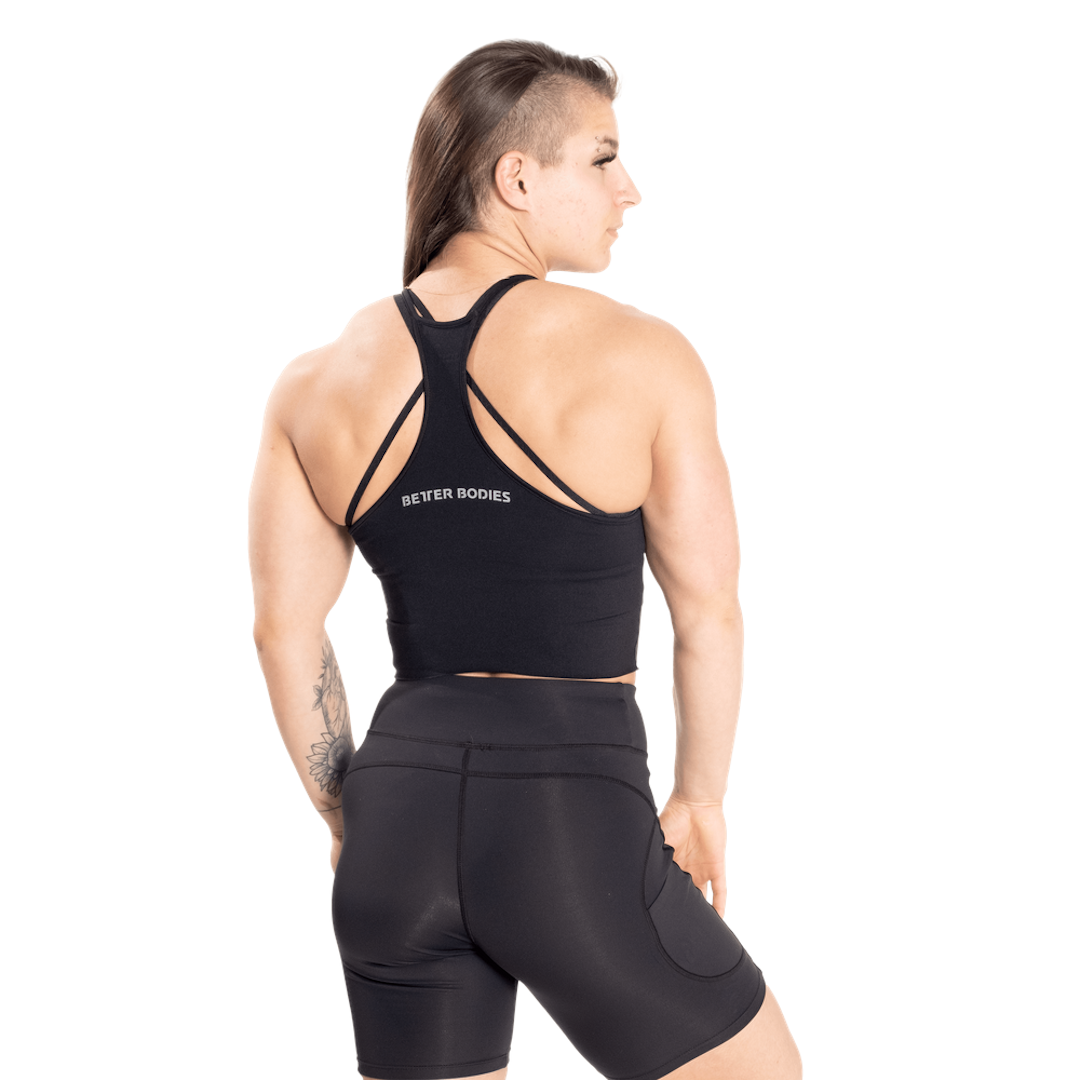 Better Bodies Performance Crop Halter Black