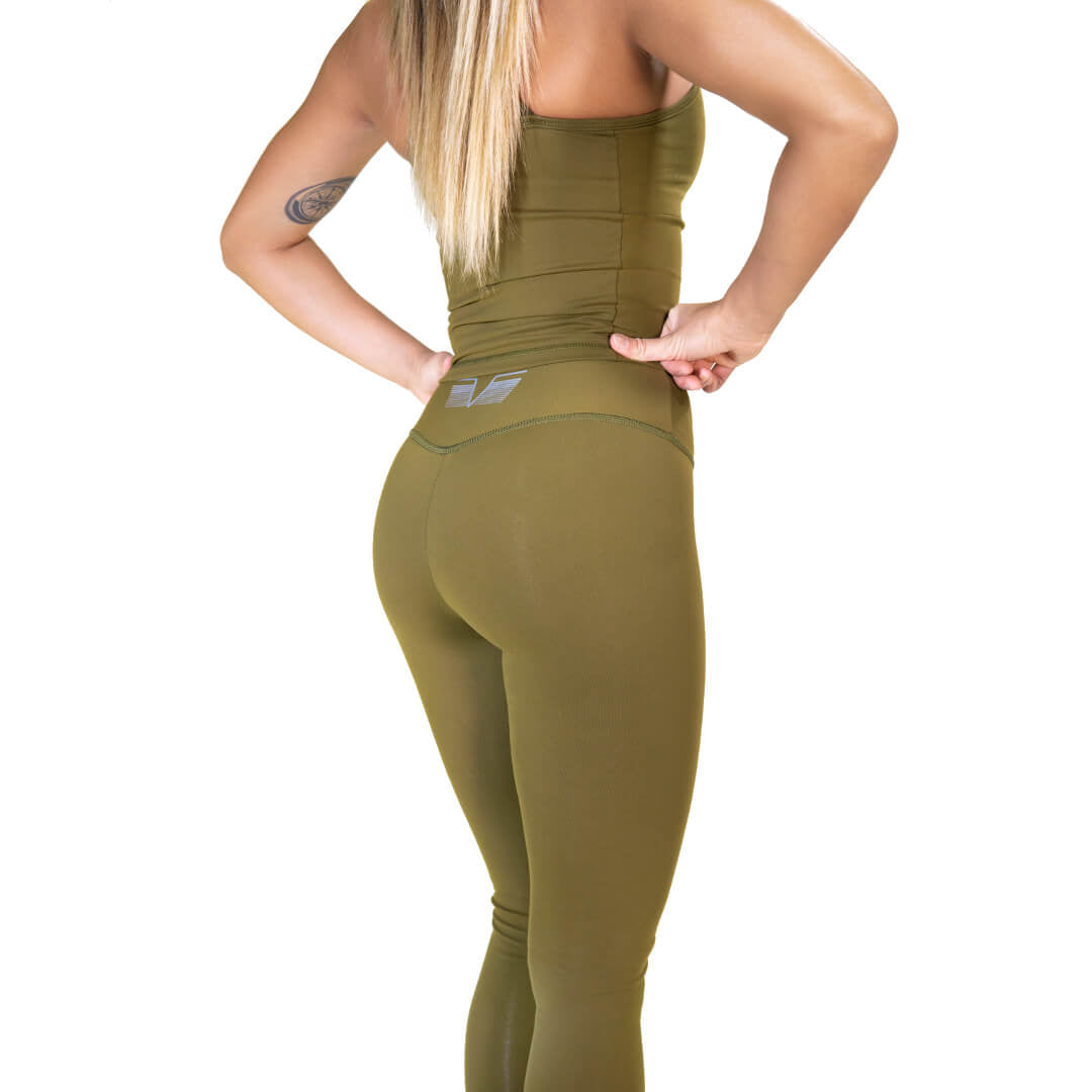 Pop Army Green Tights